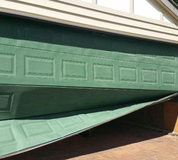 Broken Sectional Garage Door